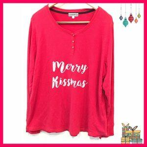 🎄 PJ Salvage Merry Kissmas Pajama Top Nordstrom